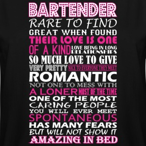 Bartender Rare To Find Romantic Amazing To Bed - Men's Tall T-Shirt