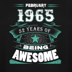 February 1965 - 52 years of being awesome (v.2017) - Men's Tall T-Shirt