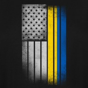 Ukrainian American Flag - Men's Tall T-Shirt