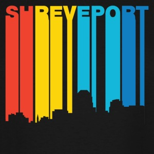 Retro 1970's Style Shreveport Louisiana Skyline - Men's Tall T-Shirt