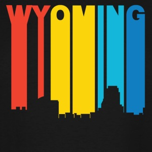 Retro 1970's Style Wyoming Michigan Skyline - Men's Tall T-Shirt