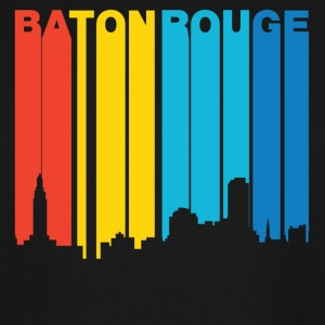 Retro 1970's Style Baton Rouge Louisiana Skyline - Men's Tall T-Shirt