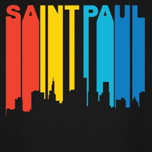 Retro 1970's Style Saint Paul Minnesota Skyline - Men's Tall T-Shirt