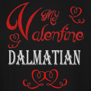 A romantic Valentine with my Dalmatian - Men's Tall T-Shirt