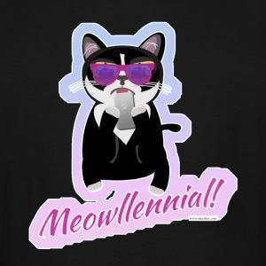 Meowllenial Hipster Cat - Men's Tall T-Shirt