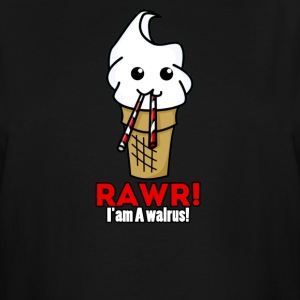 rawr i am a walrus ice cream cute - Men's Tall T-Shirt