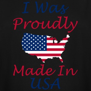 I Was Proudly Made In USA Memorial Day - Men's Tall T-Shirt