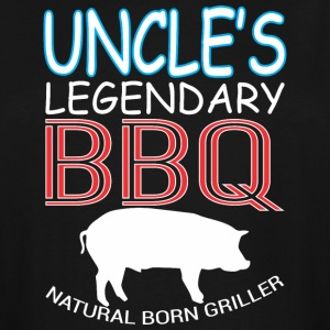 Uncles Legendary BBQ Natural Born Griller Barbecue - Men's Tall T-Shirt