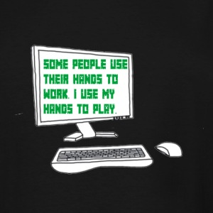 Gamer quote on Computer Screen - Men's Tall T-Shirt