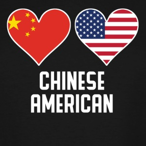 Chinese American Heart Flags - Men's Tall T-Shirt