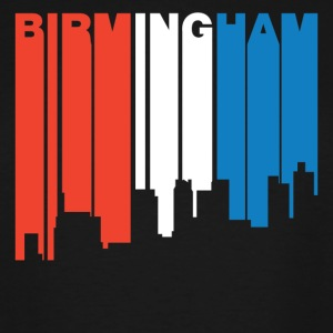 Red White And Blue Birmingham Alabama Skyline - Men's Tall T-Shirt