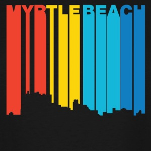 Retro 1970's Style Myrtle Beach SC Skyline - Men's Tall T-Shirt
