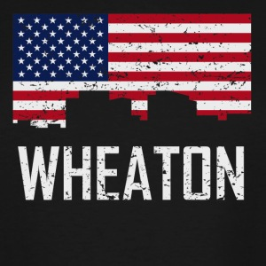 Wheaton Maryland Skyline American Flag Distressed - Men's Tall T-Shirt