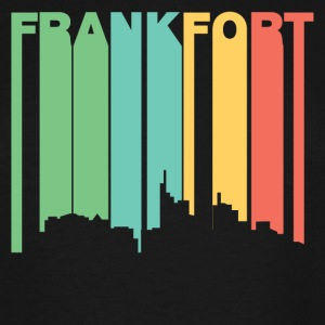 Retro 1970's Style Frankfort Kentucky Skyline - Men's Tall T-Shirt