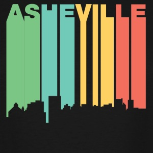 Retro 1970's Style Asheville NC Skyline - Men's Tall T-Shirt