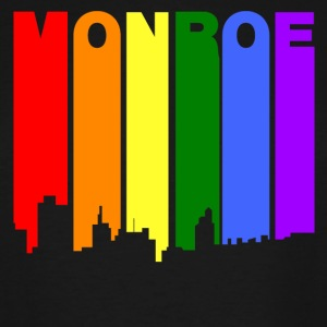Monroe Louisiana Gay Pride Rainbow Skyline - Men's Tall T-Shirt