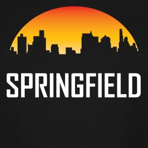 Springfield Illinois Sunset Skyline - Men's Tall T-Shirt