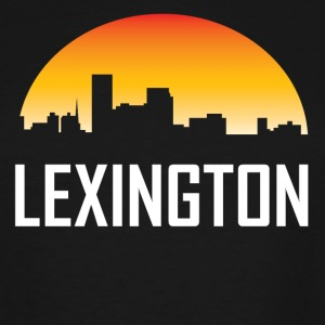 Lexington Kentucky Sunset Skyline - Men's Tall T-Shirt