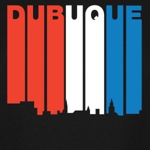 Red White And Blue Dubuque Iowa Skyline - Men's Tall T-Shirt