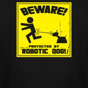 Protected by Robotic Dog - Men's Tall T-Shirt