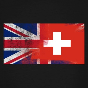British Swiss Half Switzerland Half UK Flag - Men's Tall T-Shirt