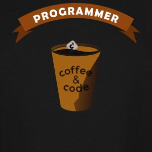 Programmers Gift- Coffee&Code- Shirt, Hoodie,Tank - Men's Tall T-Shirt