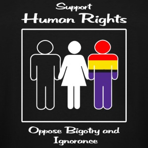 Human Rights - Support Human Rights -- Oppose Bi - Men's Tall T-Shirt