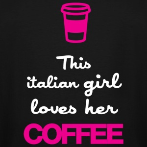 COFFEE - THIS ITALIAN GIRL LOVES HER COFFEE - Men's Tall T-Shirt