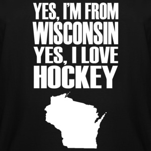 Hockey - yes i'm from wisconsin yes i love hocke - Men's Tall T-Shirt