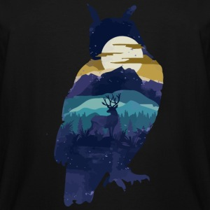 Owl - Owl Night - Men's Tall T-Shirt