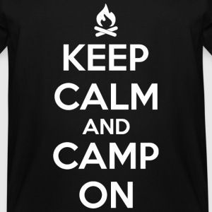 Camping - Keep calm and camp on - Men's Tall T-Shirt