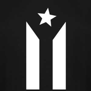Puerto Rican Black and White Flag - Men's Tall T-Shirt