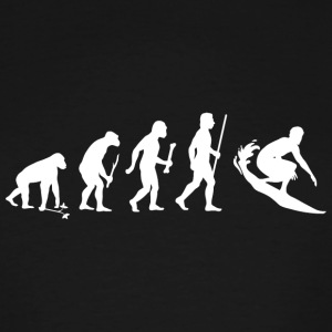 Surfing - Evolution of Man and Surfing - Men's Tall T-Shirt