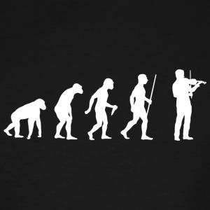Violin - Evolution of Man and Violin - Men's Tall T-Shirt
