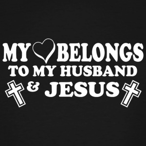 JESUS - MY LOVE BELONGS TO MY HUSBAND JESUS - Men's Tall T-Shirt