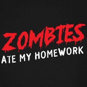 Zombie - Zombies Ate My Homework - Men's Tall T-Shirt
