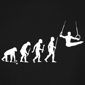 Gymnastics - Evolution of Man and Gymnastics - Men's Tall T-Shirt