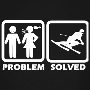Skiing - Skiing Solved My Problem - Men's Tall T-Shirt