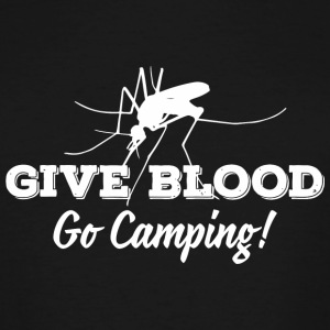 Camping - Give blood - go camping! - Men's Tall T-Shirt