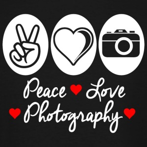 Photography - peace love photography - Men's Tall T-Shirt
