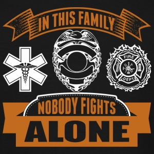 EMT - In This Family Nobody Fights Alone - Men's Tall T-Shirt
