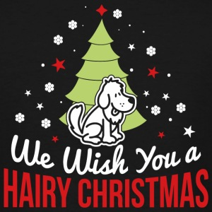Dog - We wish you a hairy christmas! - Men's Tall T-Shirt