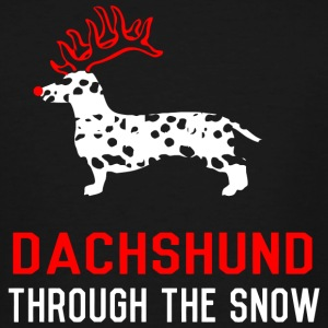 Dachshund - Dachshund Through The Snow - Men's Tall T-Shirt