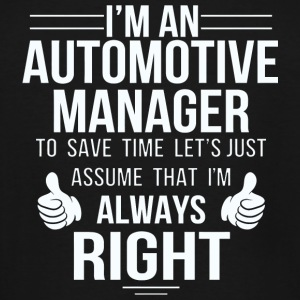 Automotive Manager - Assume Automotive Manager a - Men's Tall T-Shirt