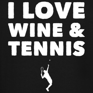 Tennis - I Love Wine and Tennis - Men's Tall T-Shirt