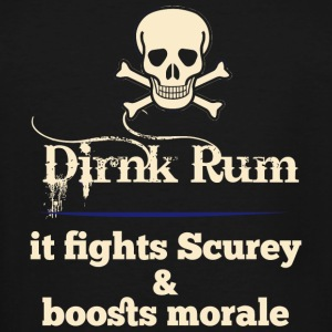 RUM - DRINK RUM IT FIGHTS SCUREY & BOOSTS MORALE - Men's Tall T-Shirt
