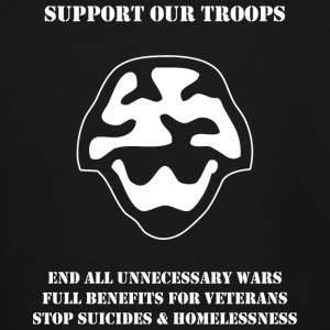 Veteran - Support Our Troops - Men's Tall T-Shirt