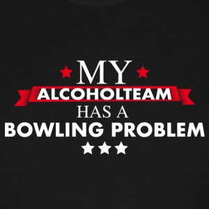 Bowling Teamshirt for professional drinkers - Men's Tall T-Shirt