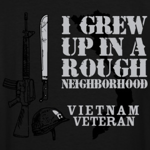 I Grew Up In A Rough Neighborhood - Men's Tall T-Shirt