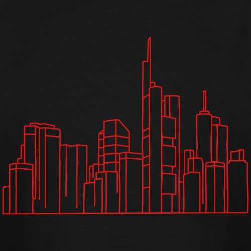 Skyline of Frankfurt - Men's Tall T-Shirt